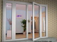 cửa đi 2 cánh mở quay ra ngoài