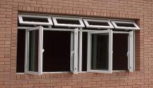 cửa sổ mở quay ra ngoài nhựa lõi thép