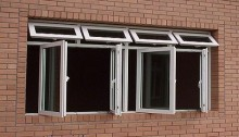 cửa sổ upvc nhựa lõi thép quay ngoài 1 cánh