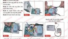 quy trình lắp đặt lưu điện cửa cuốn