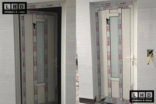 cửa nhôm xingfa pano kính trắng
