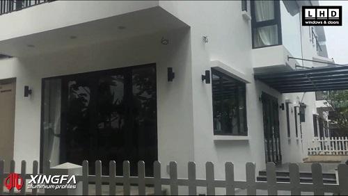 cửa nhôm xingfa thảo nguyên ecopark