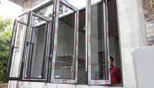 cửa sổ mở quay 4 cánh nhôm xingfa nhập khẩu