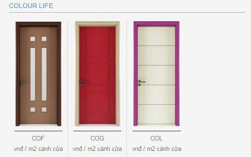 cửa gỗ duratek colorlife