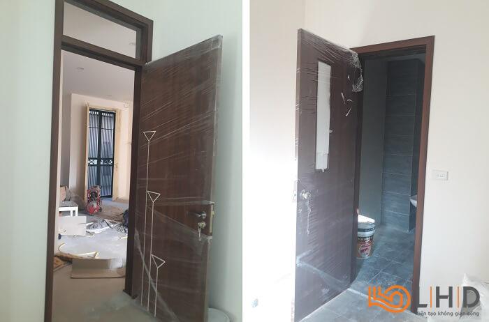 lắp đặt cửa gỗ Huge Duratek tại Trần Đăng Ninh