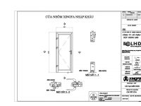 catalog ban vẽ file cad kỹ thuật nhôm xingfa quảng đông nhập khẩu hệ 55