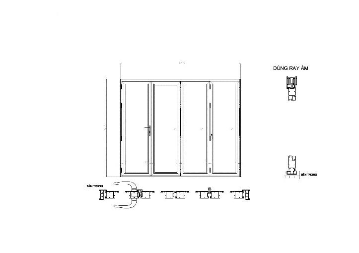 catalog ban vẽ file cad kỹ thuật nhôm xingfa quảng đông nhập khẩu hệ 63 xếp trượt
