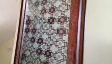 mẫu cửa nhôm xingfa vân gỗ họa tiết trang trí